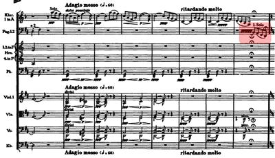 [チャイコフスキー 交響曲第6番 第1楽章 160小節目]