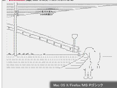 [Mac OS X Firefoxでの表示(MS Pゴシック)]