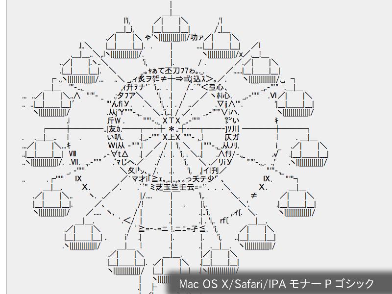 [Mac OS X Safariでの表示(IPA モナー Pゴシック)]