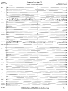 ホルスト 日本組曲スコア1ページ目