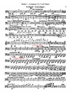 マーラー 交響曲第1番 スコア(最終楽章)