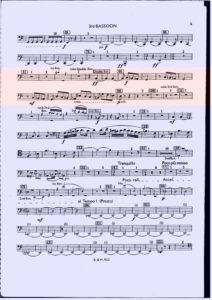 バルトーク / 管弦楽のための協奏曲 3rdファゴット・コントラファゴット パート譜 第5楽章 抜粋